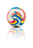 Colorful rubber marble ball  on white Stock Photos