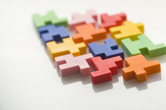 Colorful rubber puzzle. Royalty Free Stock Photography