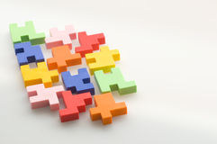 Colorful rubber puzzle Stock Photo