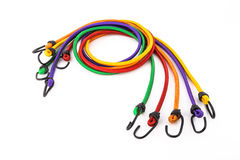 Colorful rubber rope with hook Stock Photo