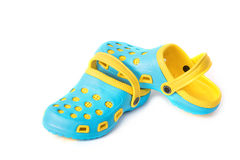 Colorful rubber sandals isolated Stock Photo