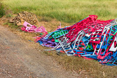 Colorful rubber scrap heap. Stock Photography