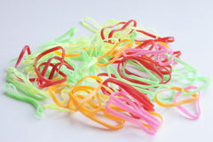 Colorful  rubberband Stock Photography