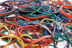 Colorful rubberbands Stock Photos