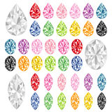 Colorful ruby. Set of colorful rubies.  Vector illustration Royalty Free Stock Images