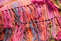 Colorful rug. Fringe of a colorful rug as a background Royalty Free Stock Images