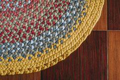 Colorful rug from braids Stock Image