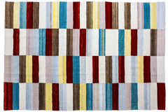 Colorful rug surface close up. Royalty Free Stock Photography