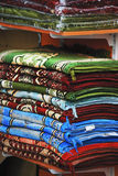 Colorful rugs at the market in Dubai Stock Images