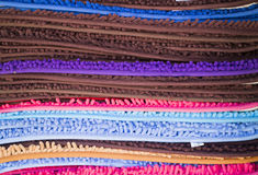 Colorful rugs Royalty Free Stock Photography