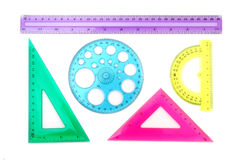 Colorful Ruler Set Royalty Free Stock Photo