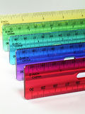 Colorful rulers Stock Photos