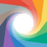 Colorful rumpled geometric swirl background design Stock Photos