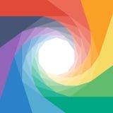Colorful rumpled geometric swirl background design Royalty Free Stock Photo