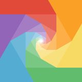 Colorful rumpled geometric swirl background design Royalty Free Stock Images