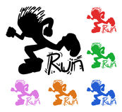 Colorful runner Royalty Free Stock Images