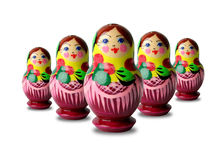 Colorful russian dolls Stock Photo