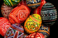 Colorful Russian Eggs Stock Images