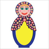Colorful Russian folk doll Matryoshka to design di Stock Photography