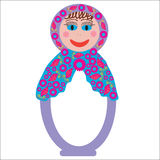Colorful Russian folk doll Matryoshka to design di Royalty Free Stock Photos