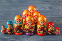 Colorful Russian Nesting Dolls Matreshka Babushka Are Most Popul Stock Image