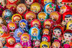Colorful russian wooden dolls Royalty Free Stock Photo