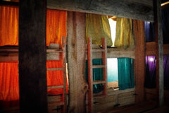 Colorful rustic bunk-beds Royalty Free Stock Photo