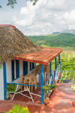 Colorful rustic wooden house at the Vinales Valley Stock Photography