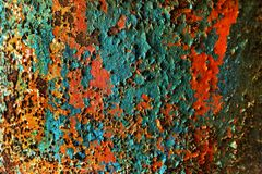 Colorful rusty backround Royalty Free Stock Images