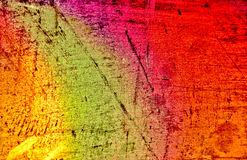 Colorful rusty metal tin background Stock Image