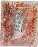 Colorful rusty steel plate Royalty Free Stock Photography