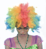 Colorful Sad Clown Stock Photo
