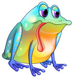 A colorful sad frog Royalty Free Stock Image