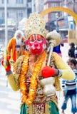 Colorful Sadhu Hanuman at Pashupatinath Temple Royalty Free Stock Image