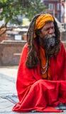Colorful Sadhu at Pashupatinath Temple Royalty Free Stock Photos