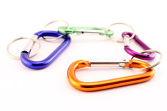 Colorful safety hooks Royalty Free Stock Photo