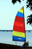 Colorful Sailboat Stock Image