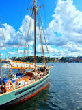 Colorful sailboat on a sunny day Royalty Free Stock Photo