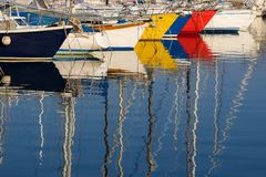 Colorful sailboats Stock Image