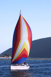 Colorful sailing boat Stock Image