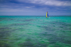 Colorful sailing boat on Caribbean sea Stock Photography