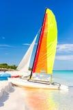 Colorful sailing boat at Varadero beach in Cuba Stock Photography