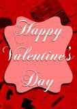 Colorful Saint Valentine's day greeting card Royalty Free Stock Images