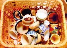 Colorful Sake cups Stock Photos