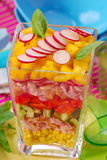 Colorful salad with chicken and vegetables Stock Photo