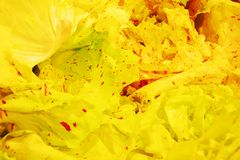 Colorful salad with red spots, background royalty free stock photos