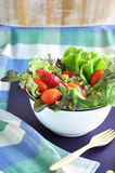 Colorful salad in white bowl Stock Photos