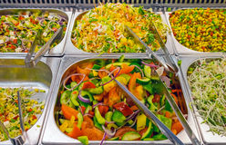Colorful salads at a buffet Royalty Free Stock Images