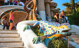 Colorful salamander in Park Guell. Barcelona, Spain Stock Image