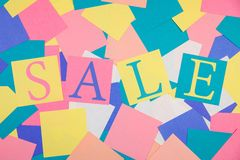 Colorful sale abstract background Royalty Free Stock Image